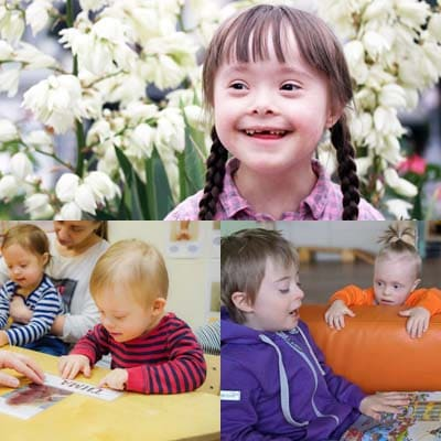 Занятия для детей с синдромом Дауна.